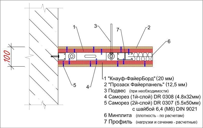ПРОЗАСК ФБ+ФП - Модель перекрытия 100 мм