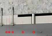 Penetration of fire-protection board for tunnel technology